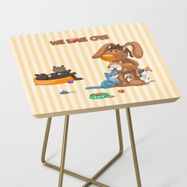 Rabbit catlover Side Table