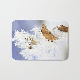 Fine Art Photograph Print - Winter Frost Bath Mat