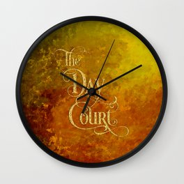 The Day Court Wall Clock