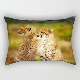 Pair of Cheetahs Rectangular Pillow