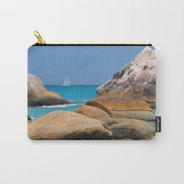 Huge rocks in Caribbean sea Carry-All Pouch
