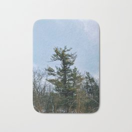 Lonely tree in the forest Bath Mat