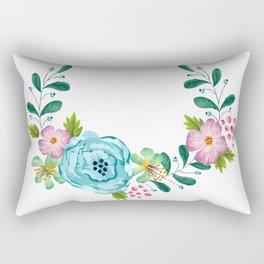 Bouquet Viola - Violet, Green AND Blue Flower Rectangular Pillow