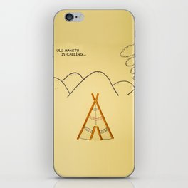 pretzel tent iPhone Skin