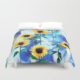 Sunflower Sky Duvet Cover