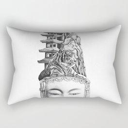Chinese Mask Rectangular Pillow