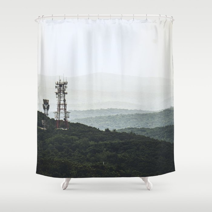 Solid Steel Emotion Shower Curtain by sarahxslr | Society6