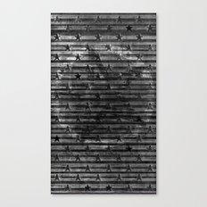 Black Stars & Black Stripes Canvas Print