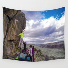 Climbing with a View Wall Tapestry