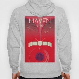 MAVEN - to Mars space art. Hoody