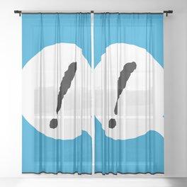 ! B Sheer Curtain