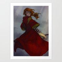 burdge Art Prints featuring Ginny Weasley by Burdge