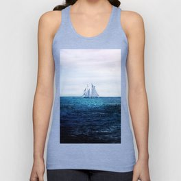 Sailing Ship on the Sea Unisex Tank Top