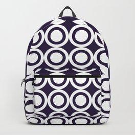 SUPER CIRCLES PURPLE BLUE WHITE Backpack