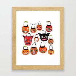 Trick Or Treat Halloween Framed Art Print