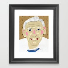 Pepere Framed Art Print