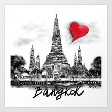 I love Bangkok Art Print