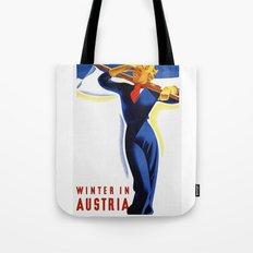 Vintage Winter in Austria Travel Tote Bag