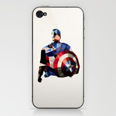 Polygon Heroes - Captain America iPhone & iPod Skin
