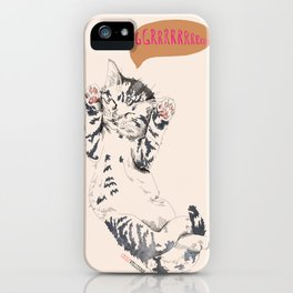 Wake Up Tiger - Beige iPhone Case
