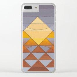 Pyramid Sun Mauve Purple Clear iPhone Case