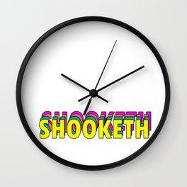SHOOKETH Wall Clock