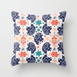 The Pysanky Easter eggs colorful pattern Throw Pillow