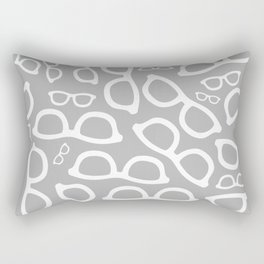 Smart Glasses Pattern - Grey Rectangular Pillow