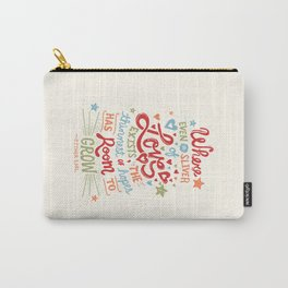 Sliver of Love Carry-All Pouch