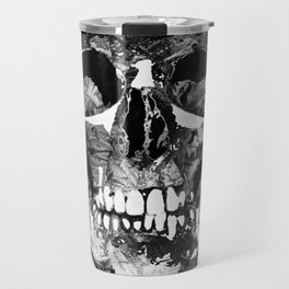 Black And White Skull by Sharon Cummings Travel Mug
