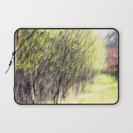 Abstract forest, intentionally blurred by camera shake Laptop Sleeve