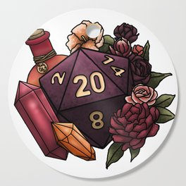 Sorcerer Class D20 - Tabletop Gaming Dice Cutting Board