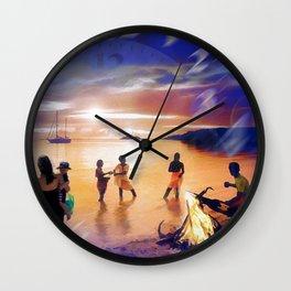 The Golden Hour Wall Clock