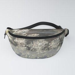 Sparkling Snow Crystals - Delicate Beauty Fanny Pack
