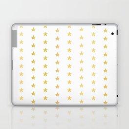 Luxe Gold Tiny Christmas Stars Confetti, Drawn Seamless Vector Pattern Laptop & iPad Skin