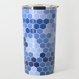 Honeycomb Blue Pattern | Geometric Shapes | Home Decor | Sapphire | For Him | For Her Travel Mug