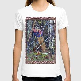 """""""Baba Yaga"""" the Witch by Ivan Bilibin T-shirt"""