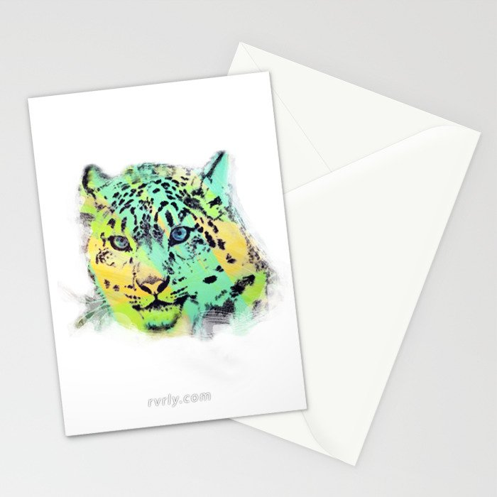 Leopard Mesmerize Stationery Cards