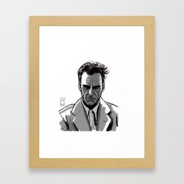 Joaquin Phoenix, A man portrait. Framed Art Print