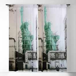 Statue of Liberty construction Blackout Curtain