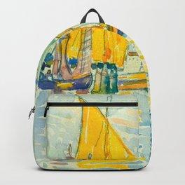Henri-Edmond Cross Neo-Impressionism Pointillism Venice-The Giudecca Watercolor Painting Backpack
