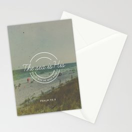 Psalm 95:5 Stationery Cards