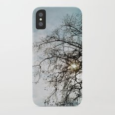 Blue Sky and Tree iPhone X Slim Case