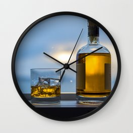 Evening Cocktail on Ice Wall Clock