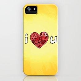 i heart u iPhone Case