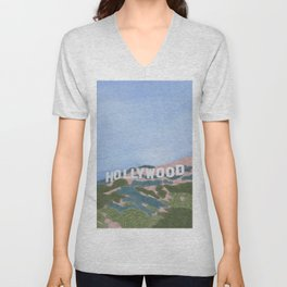 Hollywood Sign Unisex V-Neck