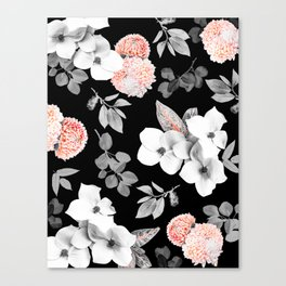 Night bloom - moonlit flame Canvas Print