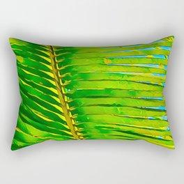 Coconut Frond in Green Aloha Rectangular Pillow