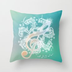 Music Notes - Crystal Throw Pillow