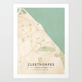 Cleethorpes, United Kingdom - Vintage Map Art Print